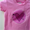 Size 0 Girls Love heart Pink Appliqued Tshirt