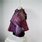 Felted Scarf Wrap  Unique Winter  Art Silk Violet