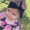 Baby / girls classic black top knot headband