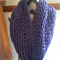Purple/lilac chunky knit Infinity/snood scarf