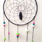 Dreamcatcher - Black with green, hot pink and white polymer clay beads