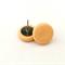 Peach Stud Clay Earrings