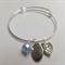Silver and Glass Bead Bangle
