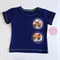 Size 0 Boys Navy Appliqued Digger Tshirt