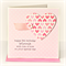 Any Age Personalised birthday card pink paper heart polka dots