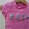Size 0 Girls Icecreams Pink Appliqued Tshirt