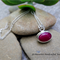 PASSION, DYED AGATE GEMSTONE NECKLACE IN STERLING SILVER