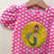 Size 00 Girls  mermaid Appliqued Tshirt