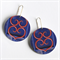 Photographic Earrings - Pattern Play - Blue and red