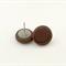 Chocolate Brown Stud Clay Earrings