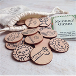 Wooden Memory Matching Game - Animal Menagerie Edition