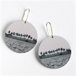 Photographic Earrings - Landscape with trees