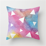 Traingles Geometric Watercolour Cushions Cover