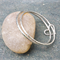 Bangle/Eco friendly recycled Sterling Silver/matching bangles/stackable