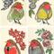 Baby Girl Nursery art - Four Robins - the four seasons   A4 prints