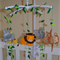 Jungle Theme Baby Mobile - Available in Custom Colours (made to order)