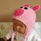 Baby Beanie, Crochet Toddlers Piggy Beanie , Crochet Newborn Beanie Baby Photo