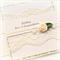 WEDDING card vintage lace cream ribbon rose green floral