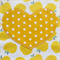 Kids Apron Juicy Fruit yellow - girls lined kitchen/craft/play - apples & spots