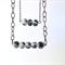 Black & White Glass Necklace on Gunmetal Chain
