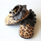 6 - 12 month leather shoes leopard print
