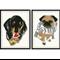 Nursery art - Two Cute Doggies  A4 prints