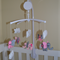 Elephants Theme Baby Mobile - Available in Custom Colours (made to order)