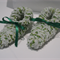 White/Green baby booties - unisex