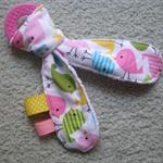 Baby Teether Toy - Spring Bird / Minky