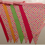 Pink Dot Bunting Flags