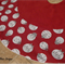 Christmas Tree Skirt - SILVER BAUBLES