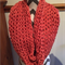 Salmon pink chunky knit Infinity/snood scarf