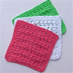 "3 ""Watermelon"" dishcloths or face washers"