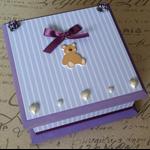 Baby Keepsake Box Purple Stripes