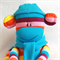 Sock Monkey Bright Rainbow Stripes, Soft Toy