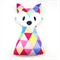 Bright Triangles Fox Rattle