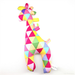 Giraffe Tag Toy Rattle Bright Triangles