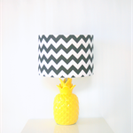 Black and white chevron fabric lampshade, table or floor or ceiling lampshades