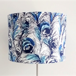 Peacock feathers fabric lampshade, table floor or ceiling lighting, home decor