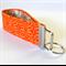 Wrist Key Fob - Moroccan Orange Flower Swirl