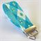 Wrist Key Fob -  Blue & White Diamonds