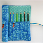 "Pencil Roll Wee Wander ""Tree Lights"" Includes 12  Staedtler Pencils + One HB"
