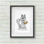 A4 Print 'Squirrel's Break'