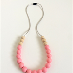 Washable Silicone & Natural Wood Necklace - Blush