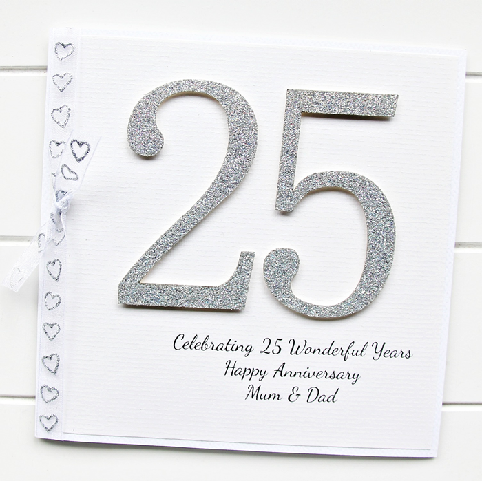 25th anniversary card personalised wedding silver wife husband 25th anniversary card personalised wedding silver wife husband custom m4hsunfo