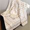 Shades of Cream, Beige and White Textured Crochet Afghan/Lap Rug