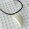 SHARK TOOTH - hand made white resin shark tooth pendant