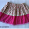 Sizes 1-5, Pink Garlands, Lacey Bug Layered Skirt