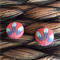 Going All Floral - 15mm Handmade Blues & Coral Fabric Button Earrings