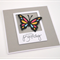 Tri Colour Butterfly Birthday Card